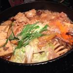名古屋コーチンの「ひきずり(鶏のすき焼き)」