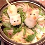 「白菜と豚肉のミルフィーユ デコ鍋(しょこたんバージョン)」